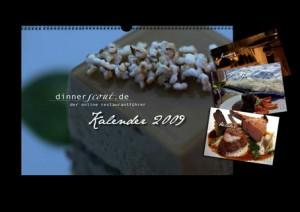 Der dinnerscout Kalender 2009 ist da!