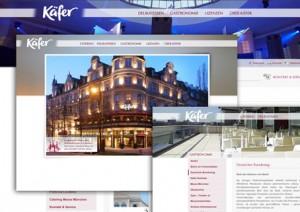 Feinkost Käfer: neue Internetseite für Catering/Delikatessen/Gastronomie