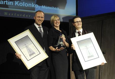 Catharina Cramer, Warsteiner Gruppe, Martin Kolonko (links), Thomas Lierz, Foto Herforder Brauerei