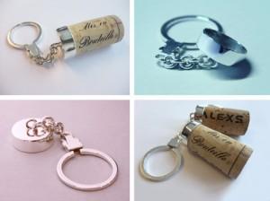 Wine-Moments, Silber Schlüsselanhänger