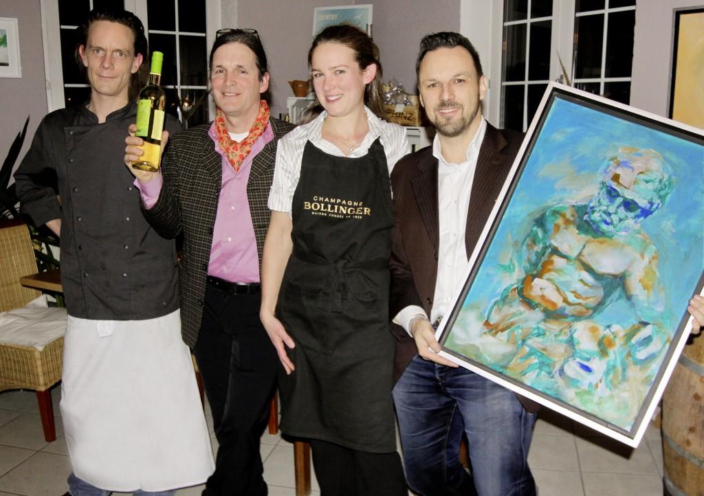v.l.: Timo Röpke, Antony Hammond, Jessica Brandenburger, Thomas Neumann