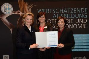 Elisabeth Petermaier wurde die neue Ausbildungsbotschafterin der bayerischen Hotellerie und Gastronomie