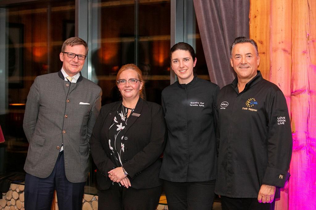 General Manager Gerhard Bosse, Restaurant-Leiterin Sandra Span, Küchenchefin Veronika Späth, Starkoch Frank Heppner