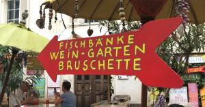 Fischerbänke in Bozen